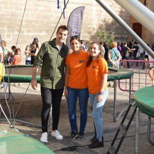 oncluye la XXXI Semana de la Juventud en la plaza del Ayuntamiento con actividades de ocio como un rocódromo o un jumping de cuatro camas