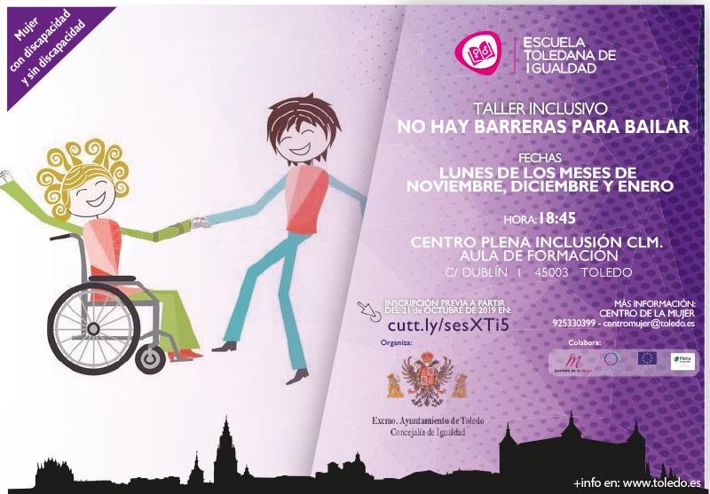 http://www.toledo.es/wp-content/uploads/2019/10/taller-inclusivo-1.jpg. Taller inclusivo: No hay barreras para bailar