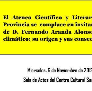 Conferencia: El cambio climático. Su origen y sus consecuencias