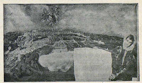 TRA-1916-031-Vista y plano de Toledo del Greco