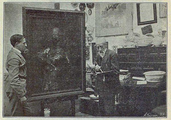 TRA-1916-057-Federico Latorre trabajando con su hijo-Foto Ciarán
