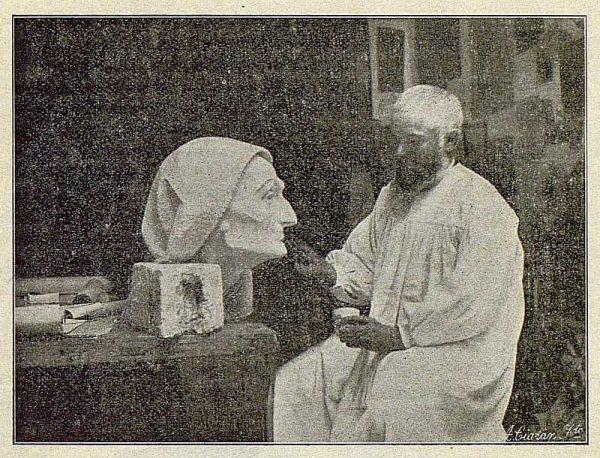 TRA-1916-059-Aurelio Cabrera, escultor-Foto Ciarán