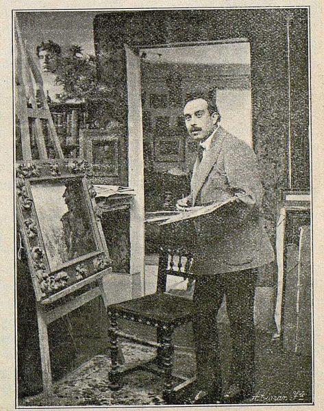 TRA-1916-062-Enrique Vera trabajando en su estudio-Foto Ciarán