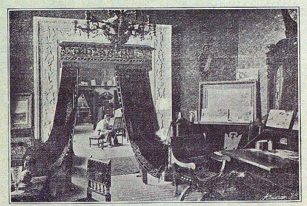 TRA-1916-063-Vista del salón rojo y el estudio de la casa de Arredondo-Foto Ciarán