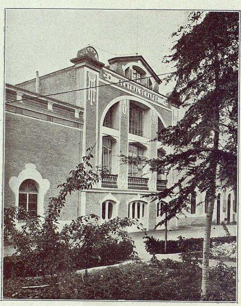 TRA-1918-096-Fábrica de Armas, fachada de la Central de Vapor