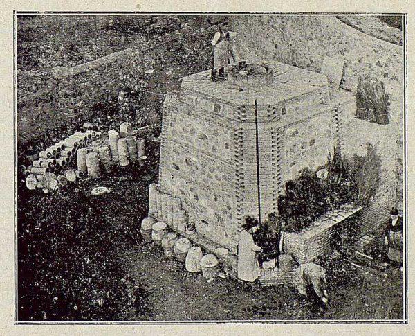 TRA-1921-163-Cerámica Aguado, uno de los hornos