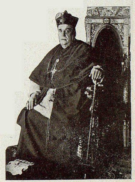 TRA-1921-173-Palacio arzobispal, el cardenal Almaraz