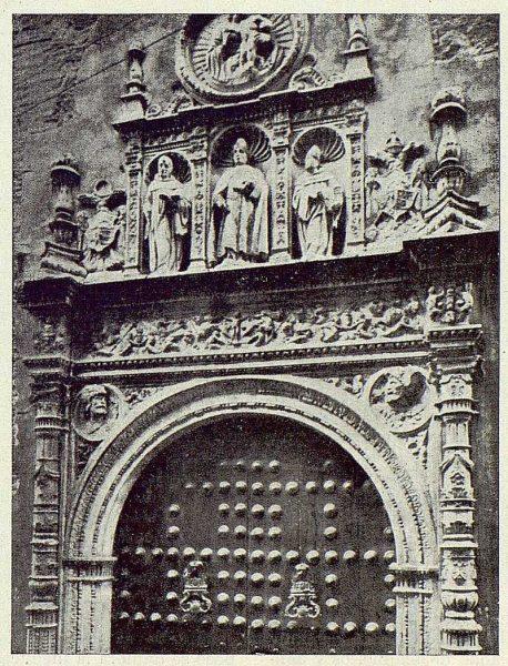 TRA-1922-180-Convento de San Clemente, detalle de la portada
