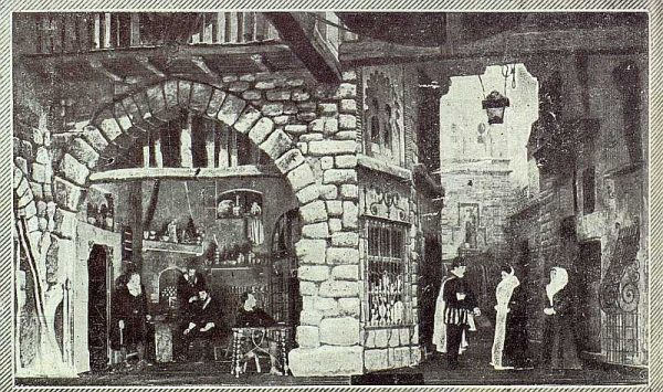 TRA-1922-182-Escena de la obra La Dama del Armiño de Ardavín