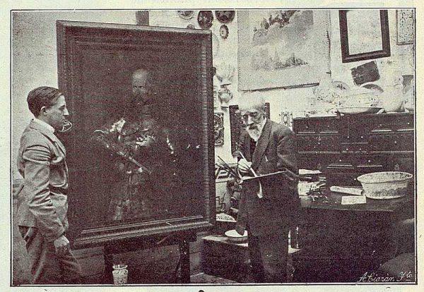 TRA-1923-194-Federico Latorre en su estudio-Foto Rodríguez