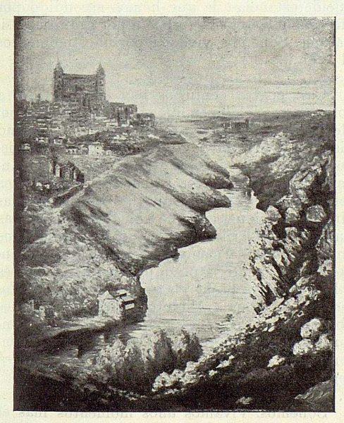 TRA-1923-195-Rafael Estefaní, lienzo de una vista de Toledo-Foto Rodríguez