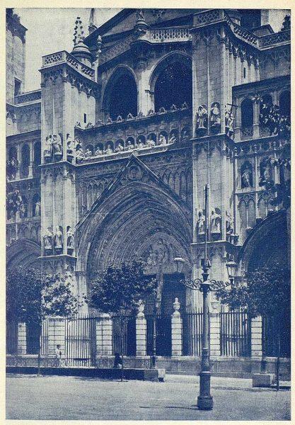 TRA-1925-217-Catedral, portada principal-Foto Clavería