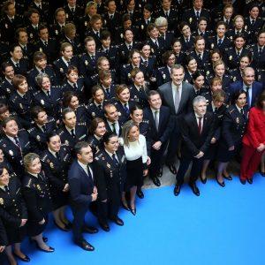 a alcaldesa acompaña al Rey Felipe VI en la inauguración del Congreso Internacional 'Igualdad de género en el ámbito de la seguridad'