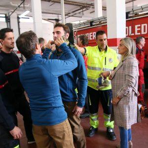 ilagros Tolón comparte con los Bomberos la programación de las XV Jornadas de Rescate en Altura que se desarrollan en Toledo