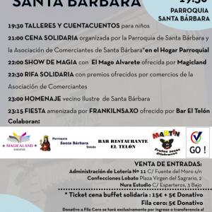 Celebración de Santa Bárbara / Cena solidaria