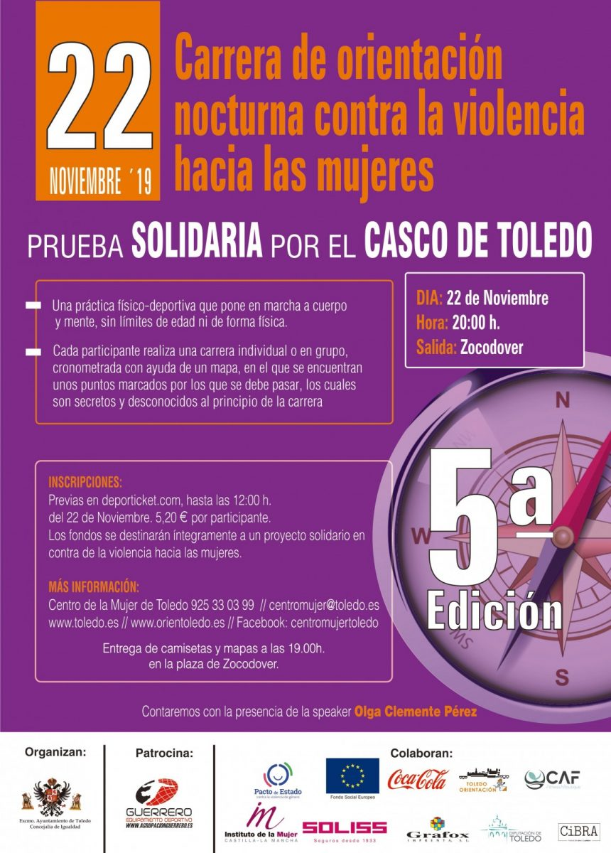 http://www.toledo.es/wp-content/uploads/2019/11/carrera-de-orientacion-nocturna-860x1200.jpg. Carrera SOLIDARIA de orientación nocturna contra la violencia hacia las mujeres