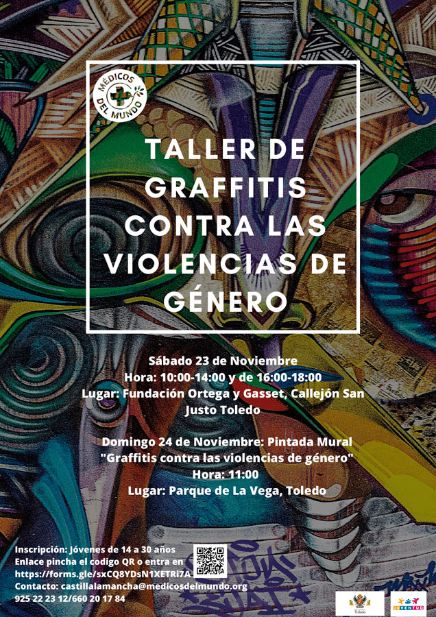 https://www.toledo.es/wp-content/uploads/2019/11/cartel-dn3-gaffiti-1.jpg. Taller de Graffitis contra las violencias de Género