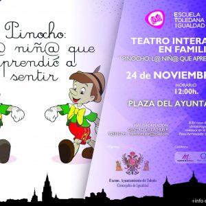"""Teatro interactivo en familia. """"Pinocho: L@ niñ@ que aprendió a sentir"""""""