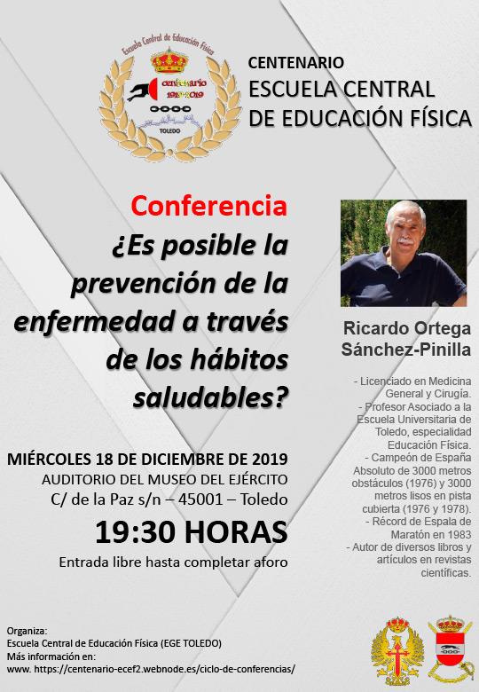 http://www.toledo.es/wp-content/uploads/2019/11/conferencia-18dic19-centenario-ecef-publico.jpg. Conferencia: ¿Es posible la prevención de la enfermedad a través de los hábitos saludables?
