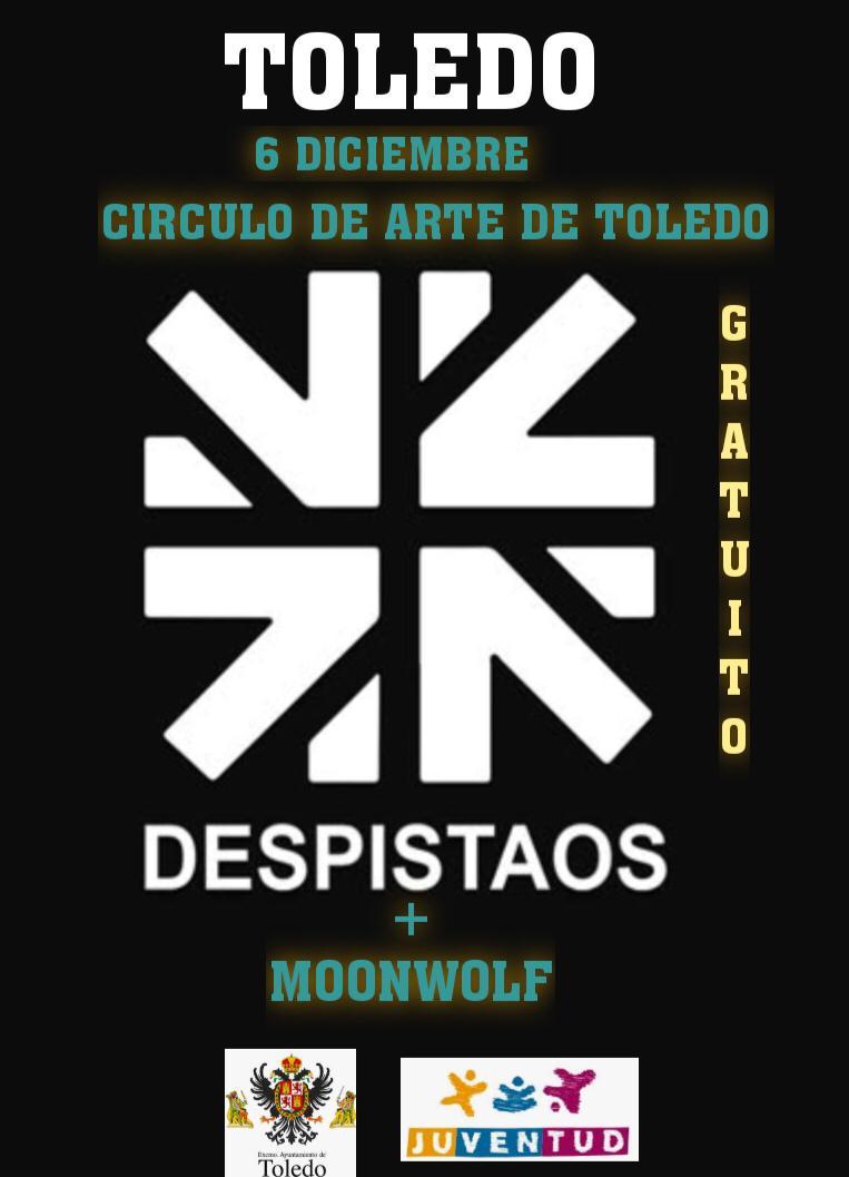 http://www.toledo.es/wp-content/uploads/2019/11/despistaos-moonwolf.jpg. Concierto: DESPISTAOS en acústico + MOONWOLF