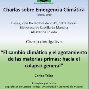 Conferencia: El cambio climático y el agotamiento de las materias primas