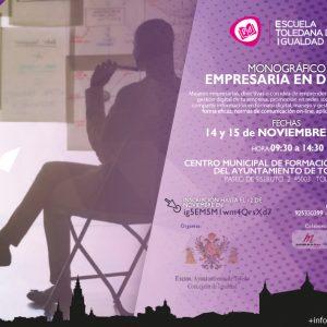 """Escuela Toledana de Igualdad: Monográfico """"Empresaria en digital"""""""