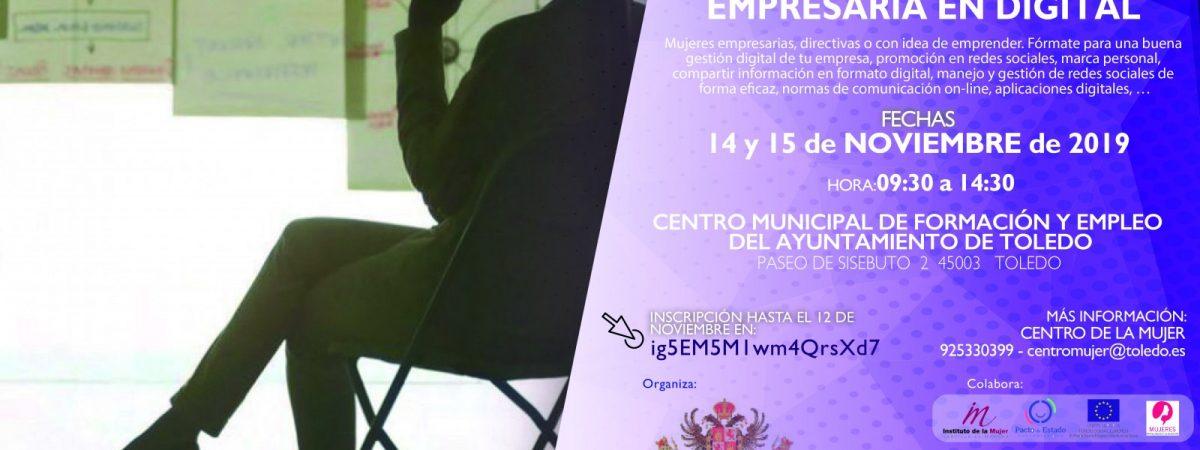"""MONOGRÁFICO """"EMPRESARIA EN DIGITAL"""". ESCUELA TOLEDANA DE…"""