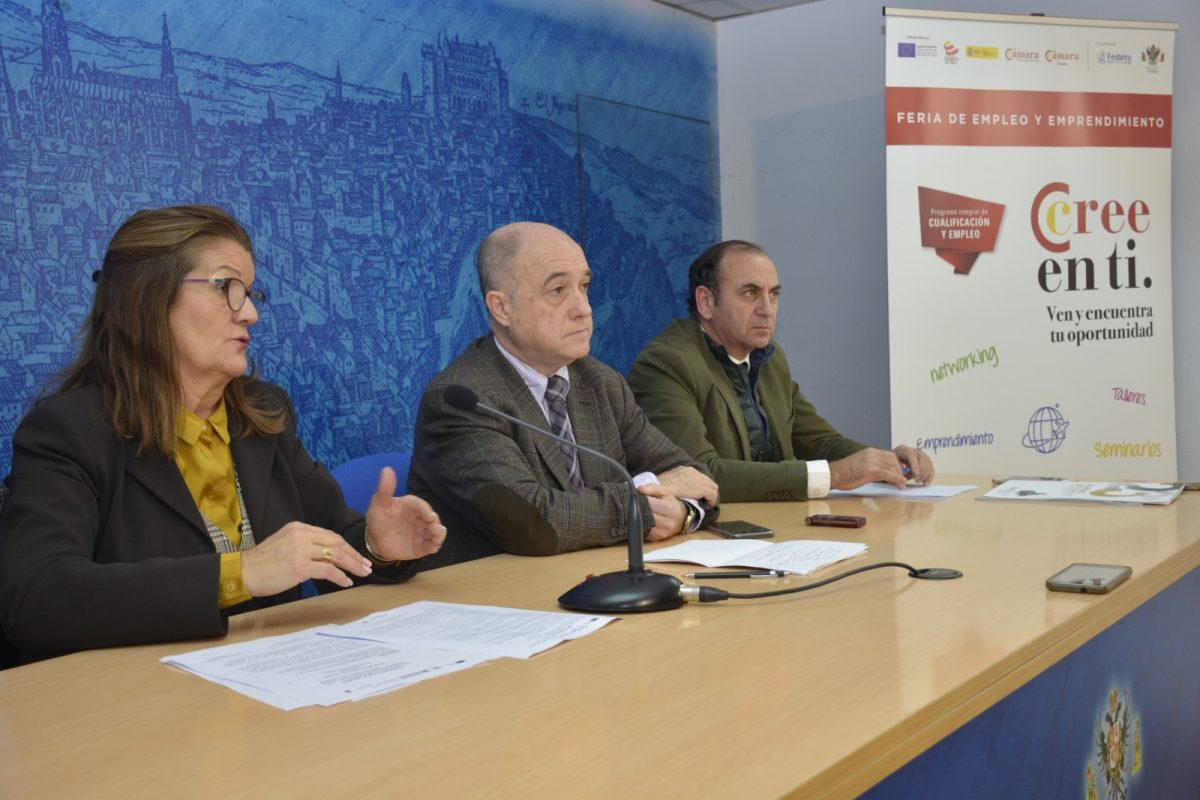 http://www.toledo.es/wp-content/uploads/2019/11/feria-de-empleo_1-1200x800.jpg. La Feria de Empleo y Emprendimiento que se celebrará el día 28 en las instalaciones de Toletvm ofrecerá unos 300 contratos de trabajo