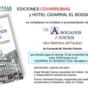 """Presentación del libro """"De Abogados y Juicios. Una historia de Toledo"""""""