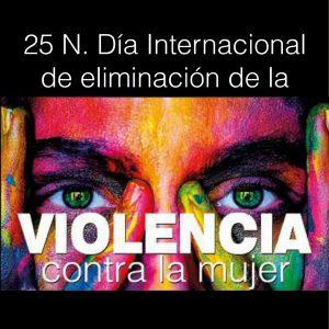 """rogramación """"Día Internacional contra la violencia hacia las mujeres"""". 25 de noviembre."""