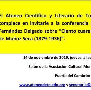 Conferencia: 140 años del nacimiento de Muñoz Seca (1879-1936)