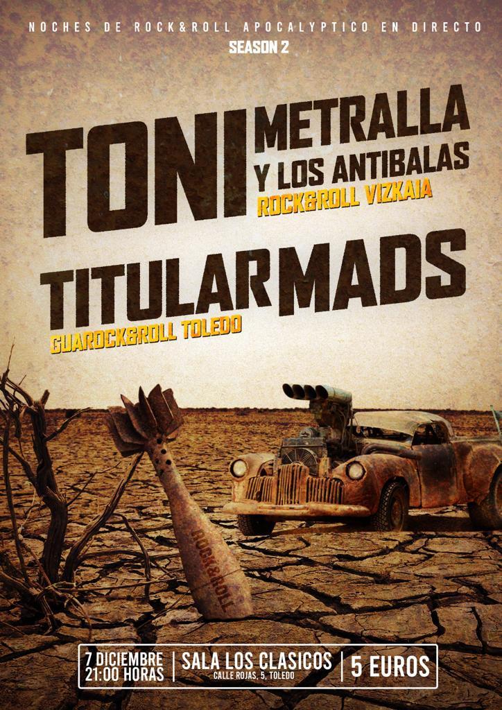http://www.toledo.es/wp-content/uploads/2019/11/titular-mads.jpeg. Concierto: TONI METRALLA Y LOS ANTIBALAS + TITULAR MADS