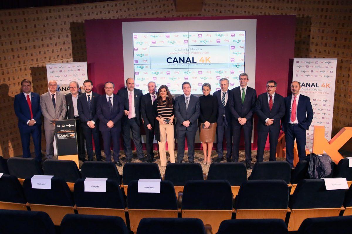 http://www.toledo.es/wp-content/uploads/2019/12/2_canal_4_k-1200x800.jpg. La alcaldesa asiste a la presentación del Canal 4K de Castilla-La Mancha Media que ha iniciado sus emisiones en Toledo