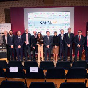 a alcaldesa asiste a la presentación del Canal 4K de Castilla-La Mancha Media que ha iniciado sus emisiones en Toledo