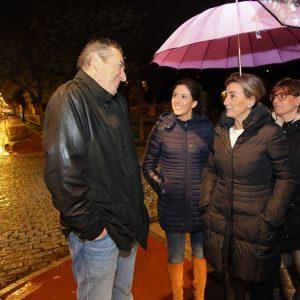 ilagros Tolón supervisa el estado final de las obras de alumbrado público realizadas en la Avenida Carlos III y Alfonso VI