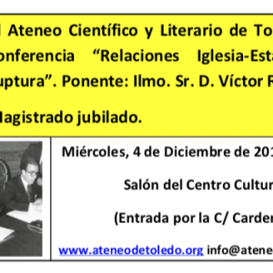 Conferencia: Relaciones Iglesia-Estado: reforma o ruptura