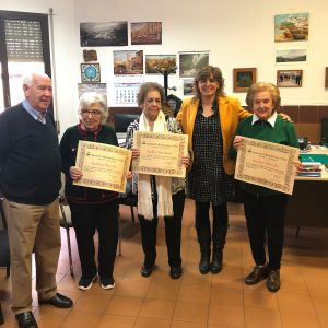l Ayuntamiento y ASVAT homenajean a tres socios que formaron parte de su Junta Directiva durante años
