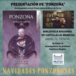 """Presentación del libro """"Ponzoña"""", de David Luna Lorenzo"""