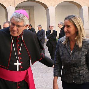 a alcaldesa da la bienvenida al nuevo arzobispo y agradece a Braulio Rodríguez el compromiso con la diócesis toledana