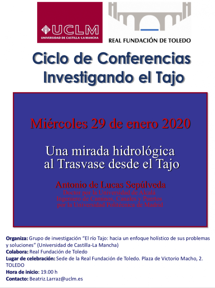 http://www.toledo.es/wp-content/uploads/2020/01/captura-de-pantalla-2020-01-29-a-las-10.44.51-898x1200.png. Conferencia: Una mirada hidrológica al Trasvase desde el Tajo