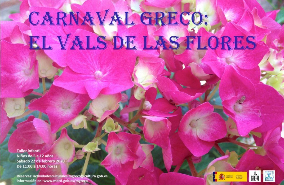 "http://www.toledo.es/wp-content/uploads/2020/01/cartel-carnaval-baja-1200x783.jpg. Taller infantil: Carnaval Greco ""El Vals de las flores"""