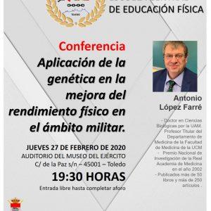 Conferencia: Aplicación de la genética en la mejora del rendimiento físico en el ámbito militar