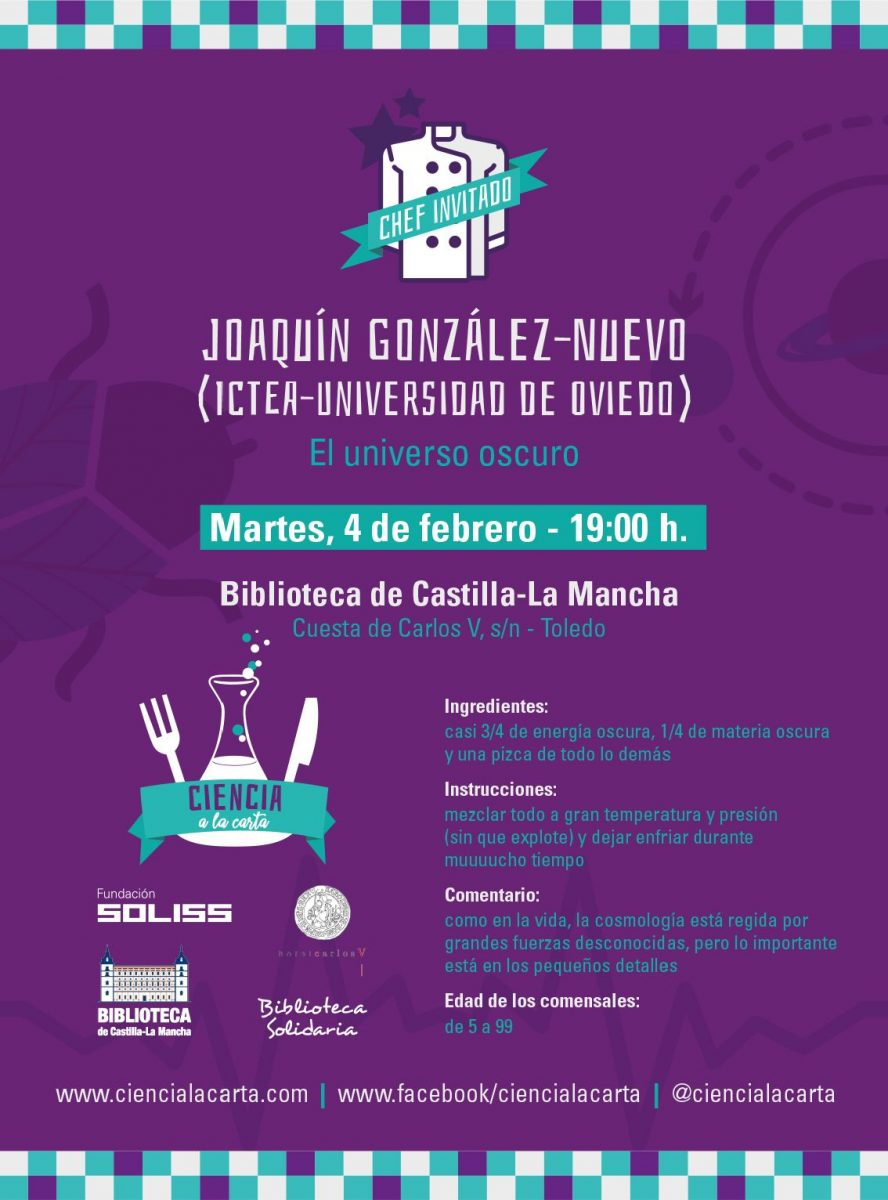 https://www.toledo.es/wp-content/uploads/2020/01/el_universo_oscuro-888x1200.jpg. Conferencia: Ciencia a la carta. El universo oscuro