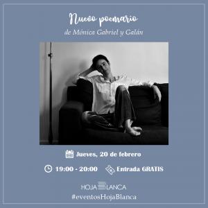 Nuevo poemario de Mónica Gabriel y Galán