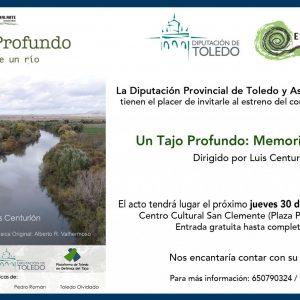 Presentación del cortometraje documental «Un Tajo profundo: Memorias de un río»