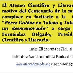 Conferencia. Centenario de la muerte de Galdós