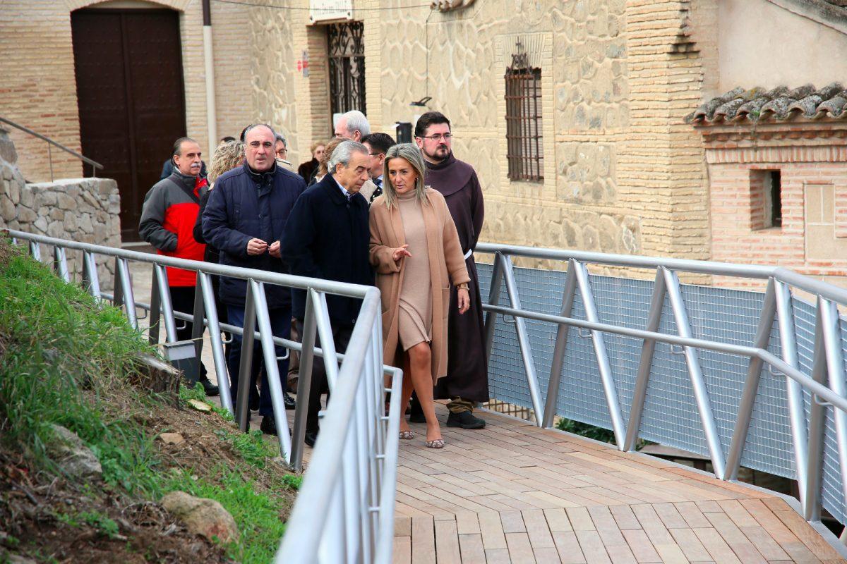 http://www.toledo.es/wp-content/uploads/2020/01/whatsapp-image-2020-01-17-at-13.01.51-2-1200x800.jpeg. Milagros Tolón inaugura la pasarela peatonal que a partir de ahora hace accesible el acceso a la ermita de la Virgen del Valle