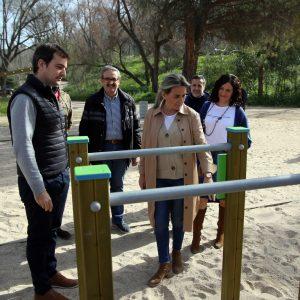 ilagros Tolón inaugura un nuevo espacio saludable y de ejercicio en la senda ecológica y reivindica el río Tajo como patrimonio local