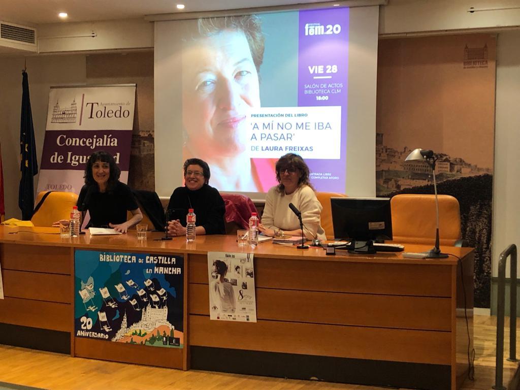 https://www.toledo.es/wp-content/uploads/2020/02/ana-abellan_fem-2020_inauguracion.jpeg. Comienza el Festival Fem.20 con la presentación de la obra 'A mí no me iba a pasar' de Laura Freixas