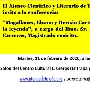 Conferencia: Magallanes, Elcano y Hernán Cortés entre la literatura y la leyenda